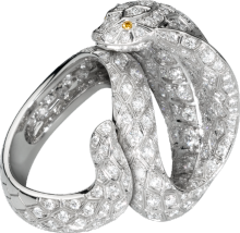 Anillo Fauna y Flora de Cartier Platino, diamantes marrones, diamantes amarillos, diamantes