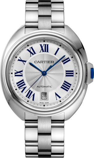 Clé de Cartier watch 40mm, automatic movement, steel