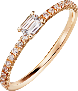 Etincelle de Cartier ring Rose gold, diamonds