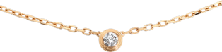 Diamants Légers necklace, small model Rose gold, diamond
