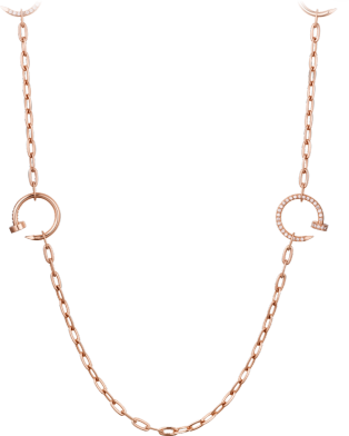 Collier Juste un Clou Or rose, diamants