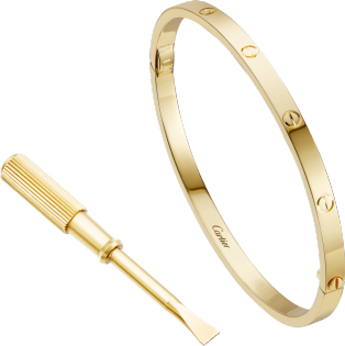 Love Armband SM Gelbgold