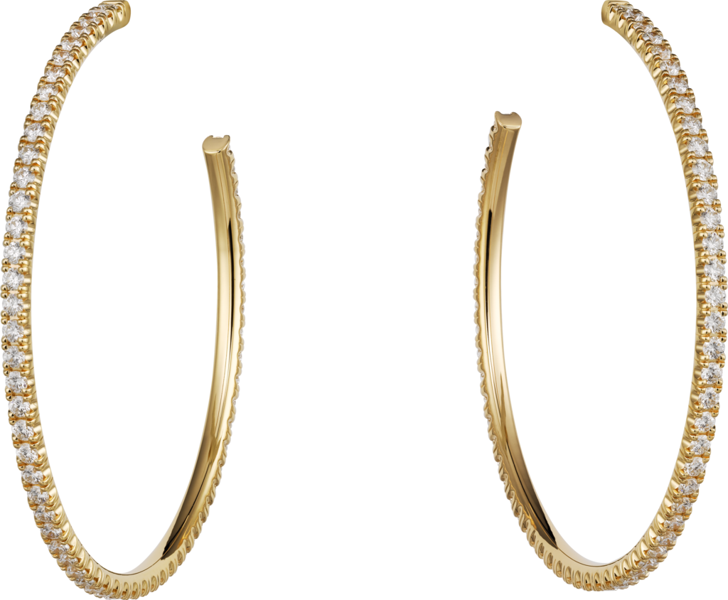 Etincelle de Cartier earringsYellow gold, diamonds