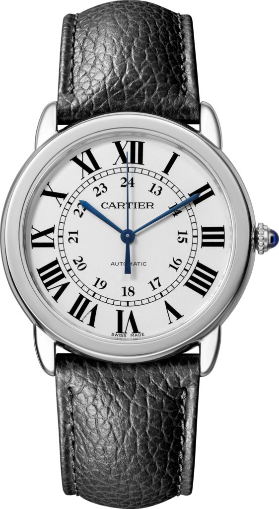 Ronde Solo de Cartier watch36mm, automatic movement, steel, leather