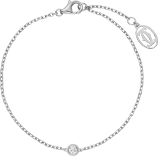 Bracelet Diamants Légers XS Or gris, diamant