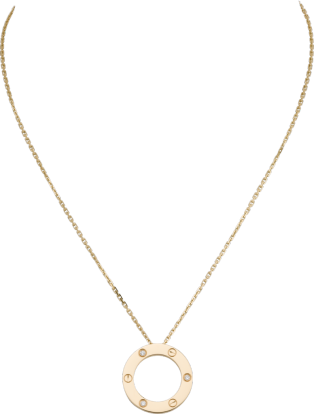 <span class='lovefont'>A </span> necklace, 3 diamonds Yellow gold, diamonds