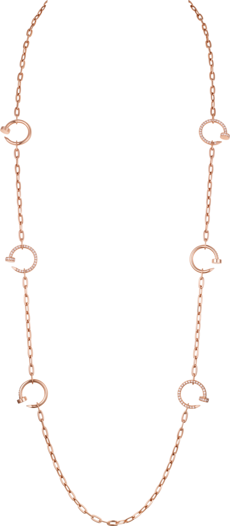 Collier Juste un ClouOr rose, diamants