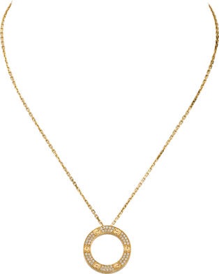 Collier <span class='lovefont'>A </span> pavé Or jaune, diamants