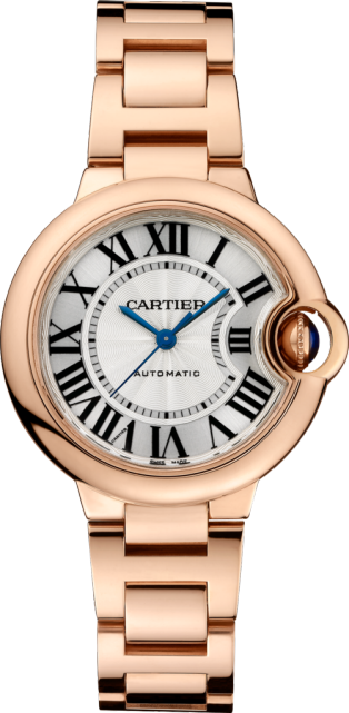 Montre Ballon Bleu de Cartier 33mm, mouvement automatique, or rose