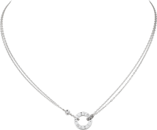 Collier <span class='lovefont'>A </span> 2 diamants Or gris, diamants
