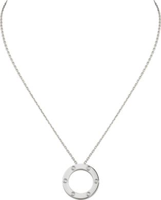 Collier <span class='lovefont'>A </span> 6 diamants Or gris, diamants