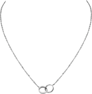Collier <span class='lovefont'>A </span> diamants Or gris, diamants