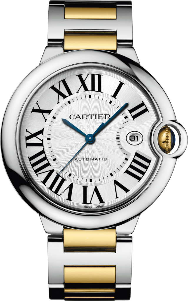 Ballon Bleu de Cartier watch42mm, automatic movement, yellow gold, steel
