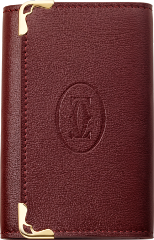 Must de Cartier 6-key keyring Burgundy calfskin, golden finish